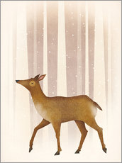 Wall Stickers  Snowy Doe - Ryan Fowler