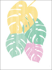 Wall sticker Monstera III Bright on White