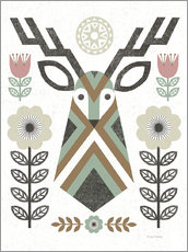 Wall sticker  Folk Lodge Deer Hygge - Michael Mullan
