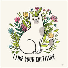 Wall sticker Purrfect Garden V