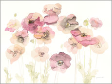 Wall sticker Delicate Poppies