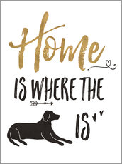 Wall sticker Home is where the dog is