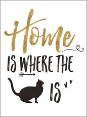 Wall sticker  Home is where the cat is - Veronique Charron