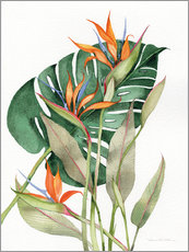 Wall sticker  Botanical: Birds of paradise - Kathleen Parr McKenna
