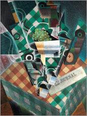 Gallery Print  Still life with checkered tablecloth - Juan Gris