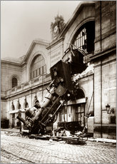 Gallery print  Train accident at the Montparnasse station, Paris - John Parrot