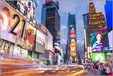 Wall sticker  Passing vehicles in front of the billboards of Times Square in New York - Neale Clarke