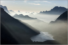 Wall sticker Fog on the peaks of the Dolomites