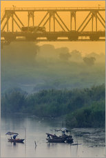 Wall sticker  Iron bridge over the Red River in Hanoi - Alex Robinson