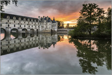 Wall sticker  Castle Chenonceau reflects in the Loire at sunset - Francesco Vaninetti