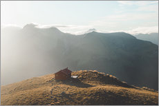 Gallery Print  Hut in the New Zealand Alps - Nicky Price