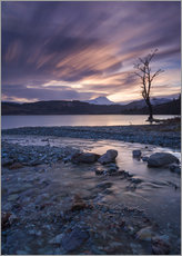 Gallery Print  Sunset at the foot of the Scottish Highlands - John Potter