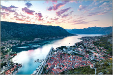 Gallery Print  View over the old town of Kotor on the Adriatic - Matt Parry