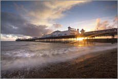 Wall Sticker  Brighton pier at sunset with dramatic sky - Lee Frost