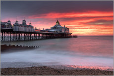 Wall sticker  Eastbourne Pier and fiery red sky - Lee Frost