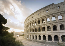 Wall Sticker  The lights of the sunrise frame the ancient Coliseum - Roberto Moiola