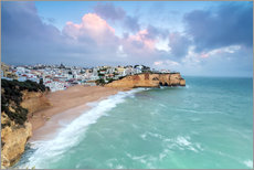 Gallery print  View of Carvoeiro village surrounded by sandy beach - Roberto Moiola
