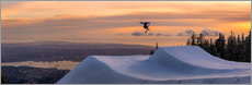 Gallery print  Freestyle skier in the sunset - Tyler Lillico