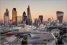 Gallery print  London skyline from St Pauls Cathedral - Charles Bowman