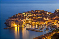 Wall Stickers  Old port and old town Dubrovnik in the evening - Neale Clarke