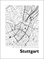 Wall Stickers  City map of Stuttgart - 44spaces