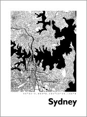 Wall sticker City map of Sydney