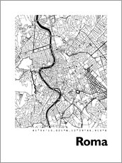 Wall sticker  Map of Rome - 44spaces