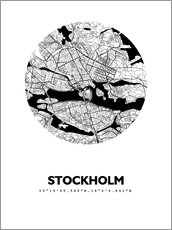Wall sticker City map of Stockholm