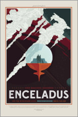 Gallery Print  Retro Space Travel - Enceladus