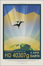 Gallery print  Retro Space Travel - HD 40307g