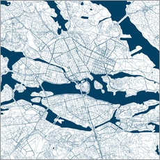 Gallery print  City map of Stockholm - 44spaces