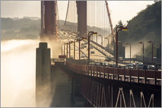 Gallery print  San Francisco - Golden Gate Bridge in the fog - Markus Kapferer