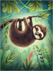 Wall sticker Little Sloth