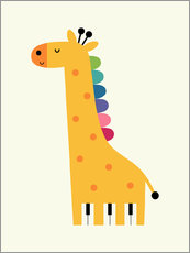 Gallery print  Giraffe piano - Andy Westface