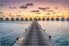 Gallery print  Romantic sunset in the Maldives - Jan Christopher Becke