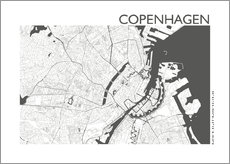 Gallery Print  City map of Copenhagen - 44spaces
