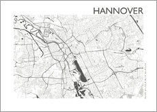 Wall Stickers  City map of Hannover - 44spaces