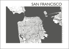 Wall Stickers  City map of San Francisco - 44spaces