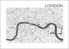 Wall sticker City map of London