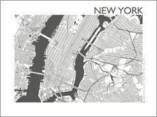 Wall Stickers  City map of New York - 44spaces