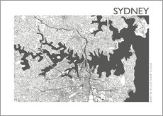 Gallery print  City map of Sydney - 44spaces
