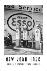 Wall sticker Historic New York - Gasoline Station Tenth Avenue, Manhattan