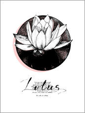 Wall sticker  Lotus motivation - Sonia Nezvetaeva