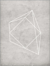 Gallery print  Gray polygon 7 - Nouveau Prints