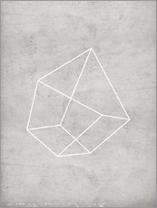 Gallery print  Gray polygon 6 - Nouveau Prints