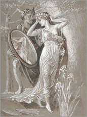 Wall Sticker  The Mirror of Venus - Walter Crane