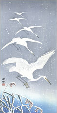 Gallery print  Heron in the snow - Ohara Koson