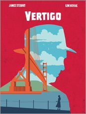 Golden Planet Prints - Alternative Vertigo movie art print