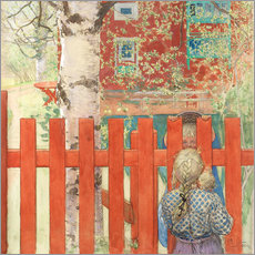 Wall sticker  Through the fence - Carl Larsson