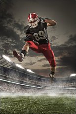 Gallery print  American Football Player in Action